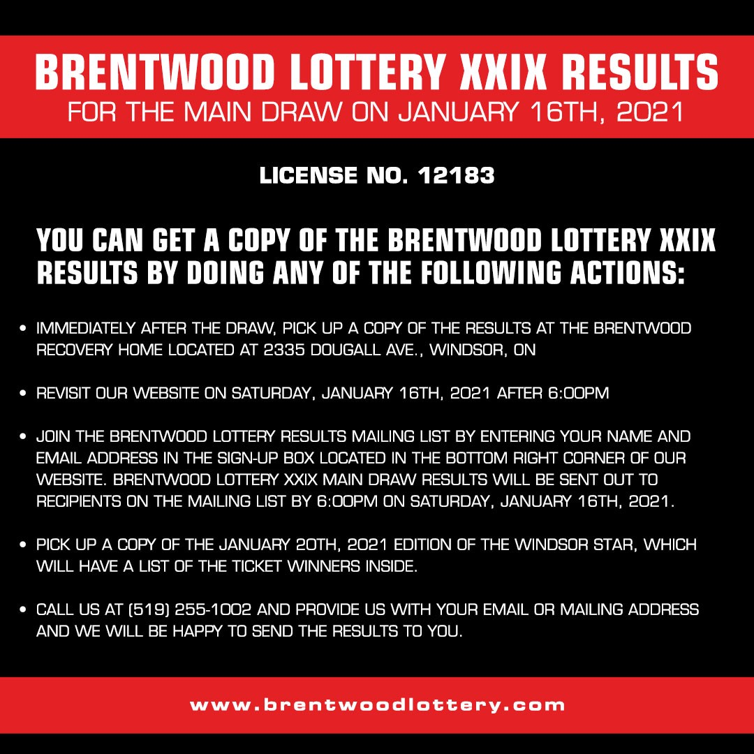 Brentwood Lottery Results